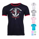 Tee shirt col rond manches courtes coton Ocean Homme TED LAPIDUS