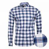 Chemise manches longues à carreaux en coton Homme JACK & JONES