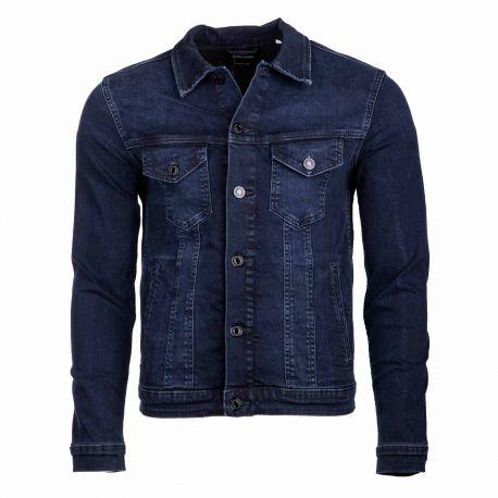 Veste en jeans 12166867 Homme JACK & JONES marque pas cher prix dégriffés destockage