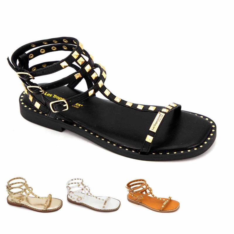 Sandales hautes cuir léger clouté Coralie Femme LES TROPEZIENNES PAR M.BELARBI