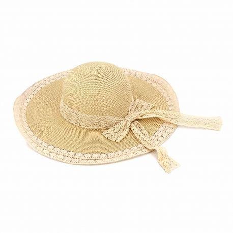 Chapeau beige 23-shbz-201095 Femme EMERAUDE marque pas cher prix dégriffés destockage