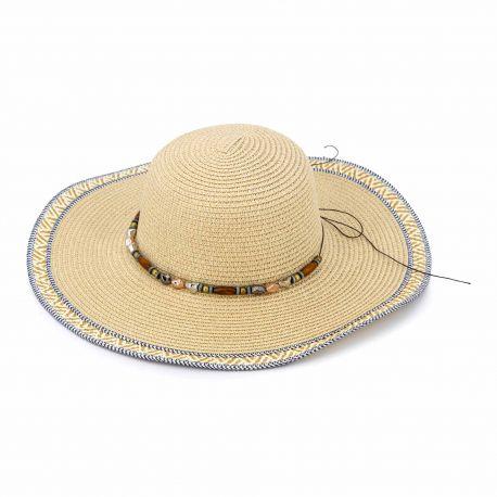 Chapeau beige 18-hlw-201151 Femme EMERAUDE marque pas cher prix dégriffés destockage