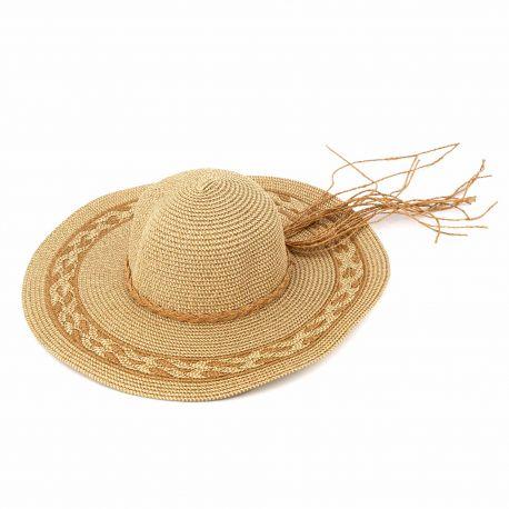 Chapeau beige 23-sh-201140 Femme EMERAUDE marque pas cher prix dégriffés destockage