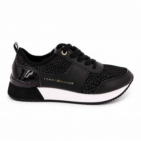 Sneakers black fw0fw04306 t36/41 Femme TOMMY HILFIGER marque pas cher prix dégriffés destockage