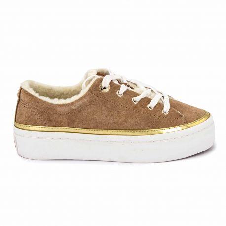 Sneakers brown fw0fw04537 t36/41 Femme TOMMY HILFIGER marque pas cher prix dégriffés destockage