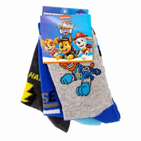 Chaussettes lot x3 Enfant PAW PATROL marque pas cher prix dégriffés destockage