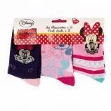Lot de 3 paires de chaussettes imprimé en coton Minnie mouse Enfant DISNEY