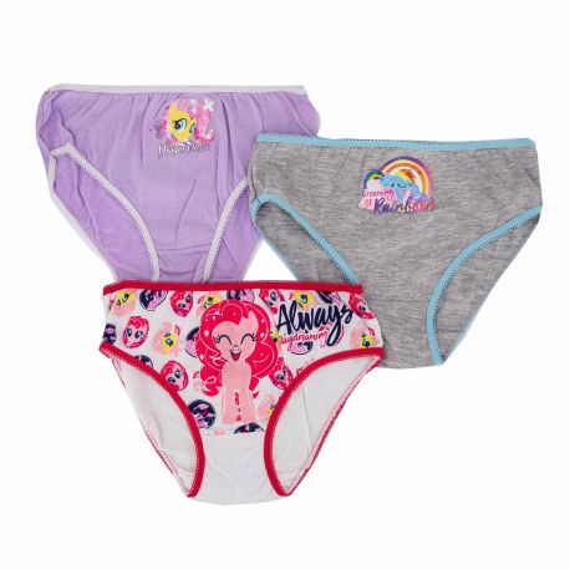 Culottes lot x 3 Enfant MY LITTLE PONY marque pas cher prix dégriffés destockage