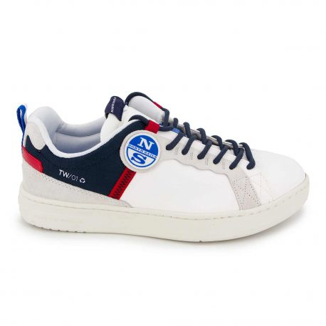 Baskets white navy red Homme NORTH SAILS