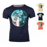 Tee shirt manches courtes col rond imprimé Miami Homme BLAGGIO