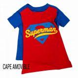 Pyjacourt avec cape amovible en coton Enfant SUPERMAN