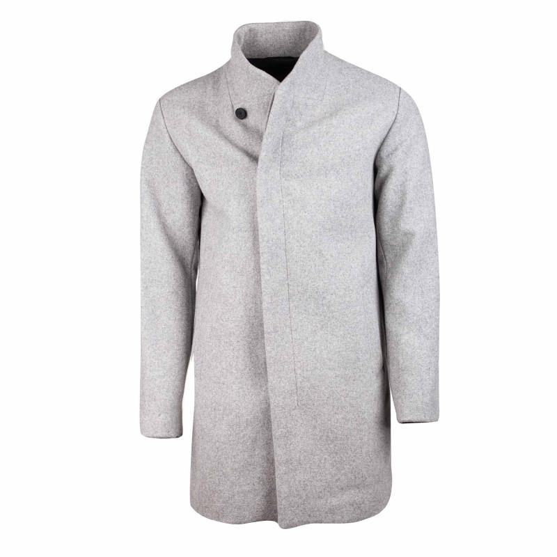 Manteau long noir 12154586 Homme JACK & JONES marque pas cher prix dégriffés destockage