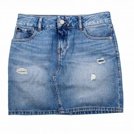 Jupe en jean Enfant CALVIN KLEIN marque pas cher prix dégriffés destockage