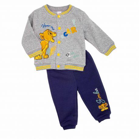 Ensemble jogging roi lion bebe 3 a 24 mois dis kl 51129560 Bébé DISNEY marque pas cher prix dégriffés destockage