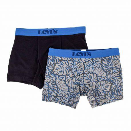 Boxer lot de 2 bleu 100001655 Homme LEVI'S marque pas cher prix dégriffés destockage