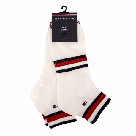 Chaussettes lot de 2 t39/46 blanc 100002667 Mixte TOMMY HILFIGER marque pas cher prix dégriffés destockage