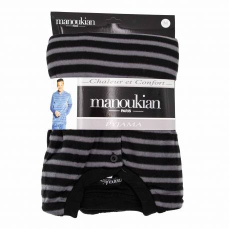 Pyjama chaleur et confort raye phebus Homme MANOUKIAN marque pas cher prix dégriffés destockage