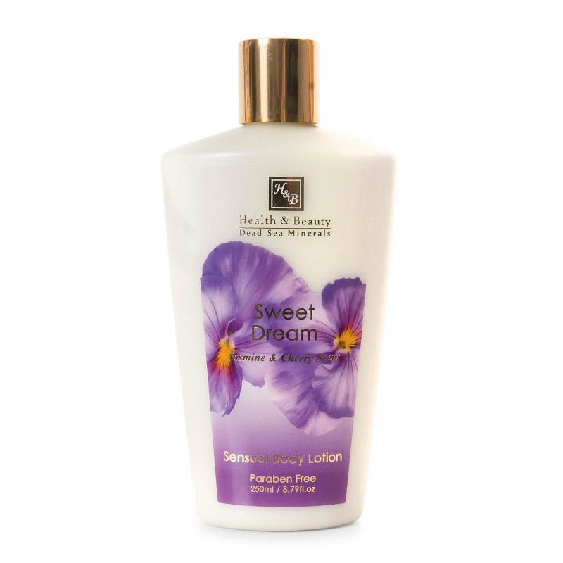 Lotion corps sensuelle 250ml jasmin et fleurs de cerisier Health and Beauty marque pas cher prix dégriffés destockage