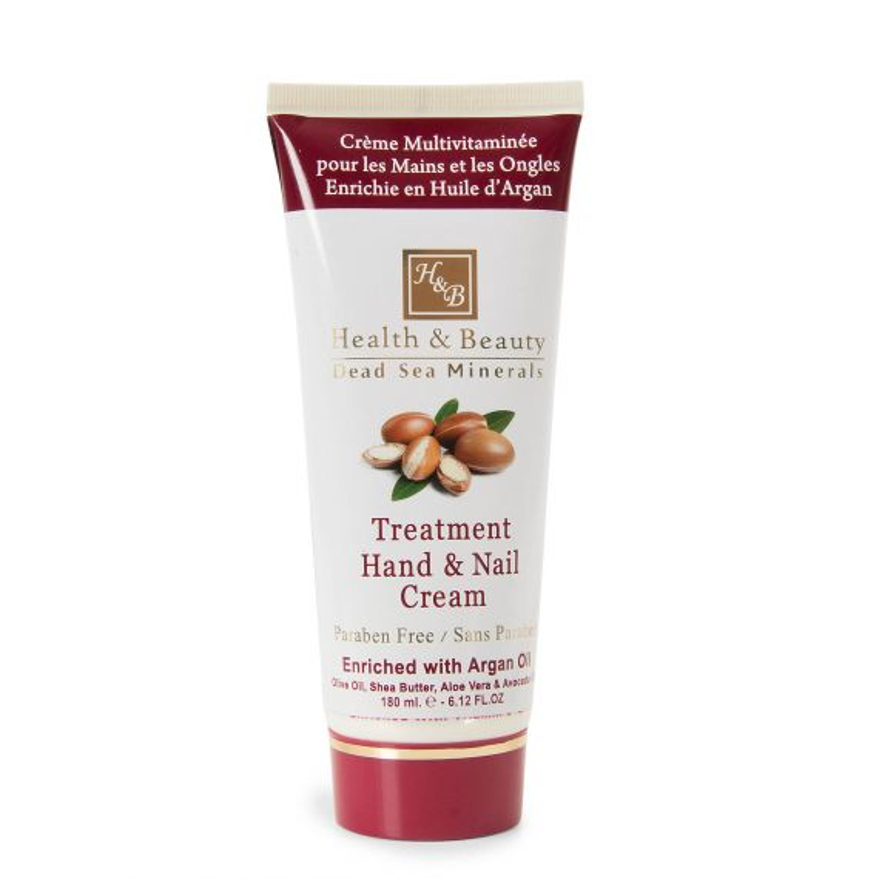 Crème mains et ongles 180ml argan Health and Beauty marque pas cher prix dégriffés destockage