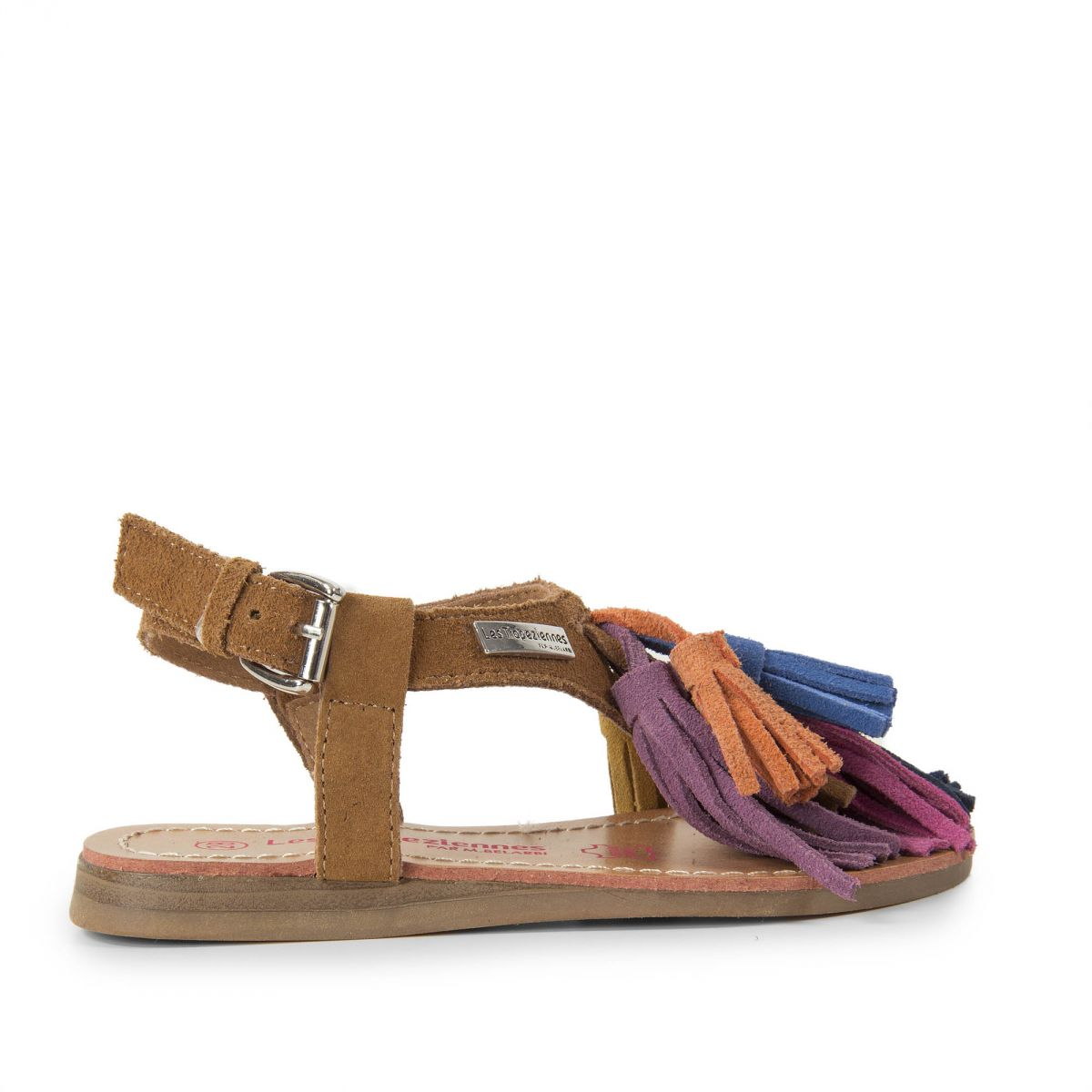 sandales multicolore pompons fille gorby les trop ziennes par m. Black Bedroom Furniture Sets. Home Design Ideas