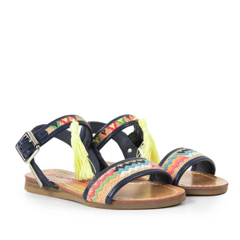 Sandales multicolores fille GOSPEL Les Tropéziennes par M. Belarbi marque pas cher prix dégriffés destockage