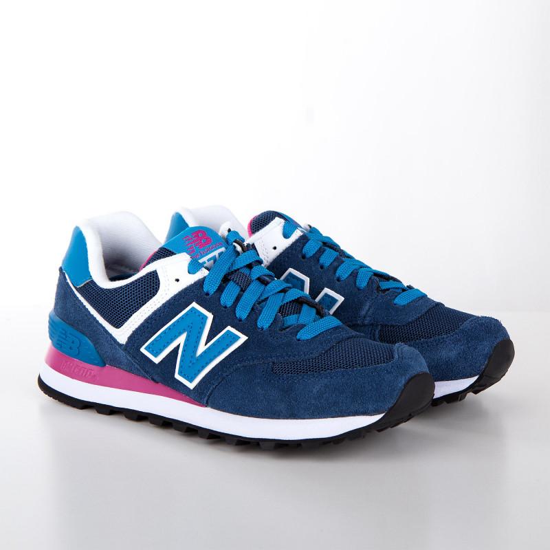 Baskets sneakers WL574MOY bleu roi femme NEW BALANCE marque pas cher prix dégriffés destockage