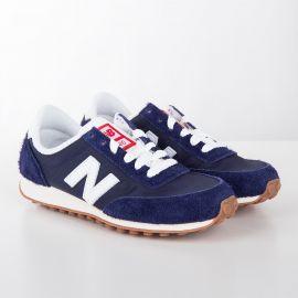 Baskets sneakers U410NY bleu marine enfant NEW BALANCE marque pas cher prix dégriffés destockage