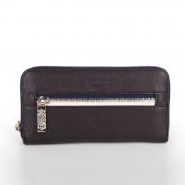 Portefeuille simili cuir marron et bleu femme CHRISTIAN LACROIX