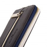 Portefeuille simili cuir marron et bleu femme CHRISTIAN LACROIX marque pas cher prix dégriffés destockage