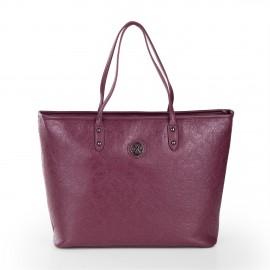 Cabas motifs baroque simili cuir violet femme CHRISTIAN LACROIX marque pas cher prix dégriffés destockage
