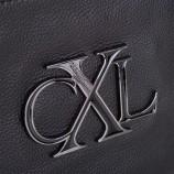 Double pochette aimantée cuir noir femme CHRISTIAN LACROIX marque pas cher prix dégriffés destockage