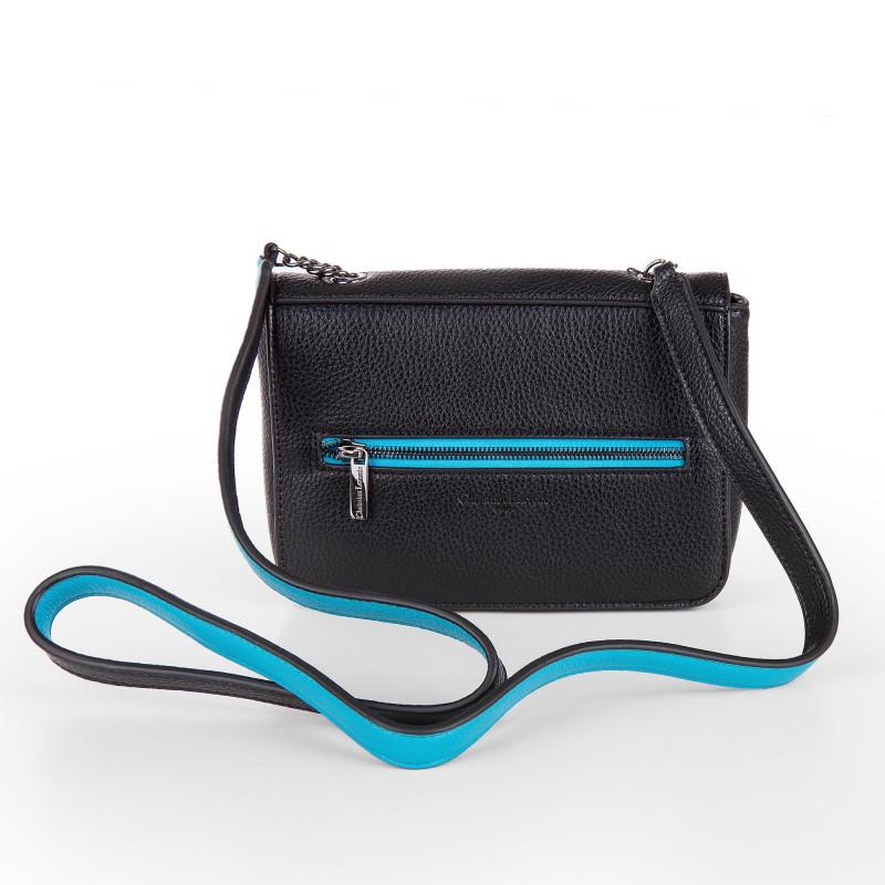 22ffce40c0 Petit sac simili cuir noir et bleu bandoulière femme CHRISTIAN LACROIX  marque pas cher prix dégriffés