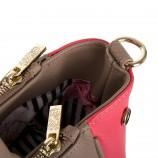 Sac simili cuir beige et rose femme CHRISTIAN LACROIX marque pas cher prix dégriffés destockage