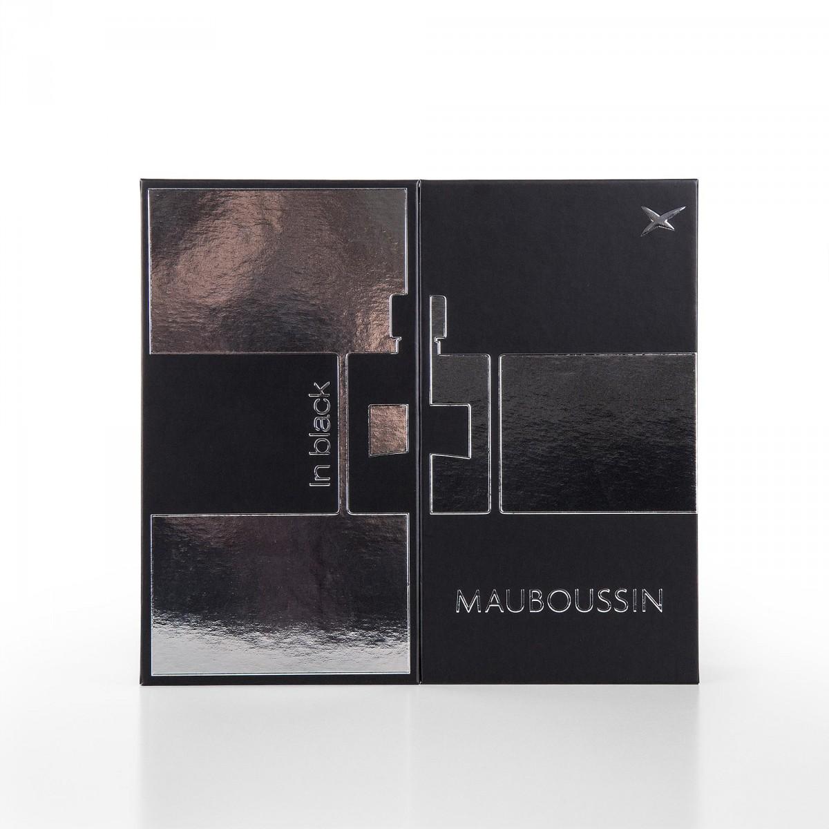 Pour Eau À Black Coffret In Mauboussin De Lui Parfum Homme Mousse 100 MlDéodorant Raser 150 gy7Yb6f