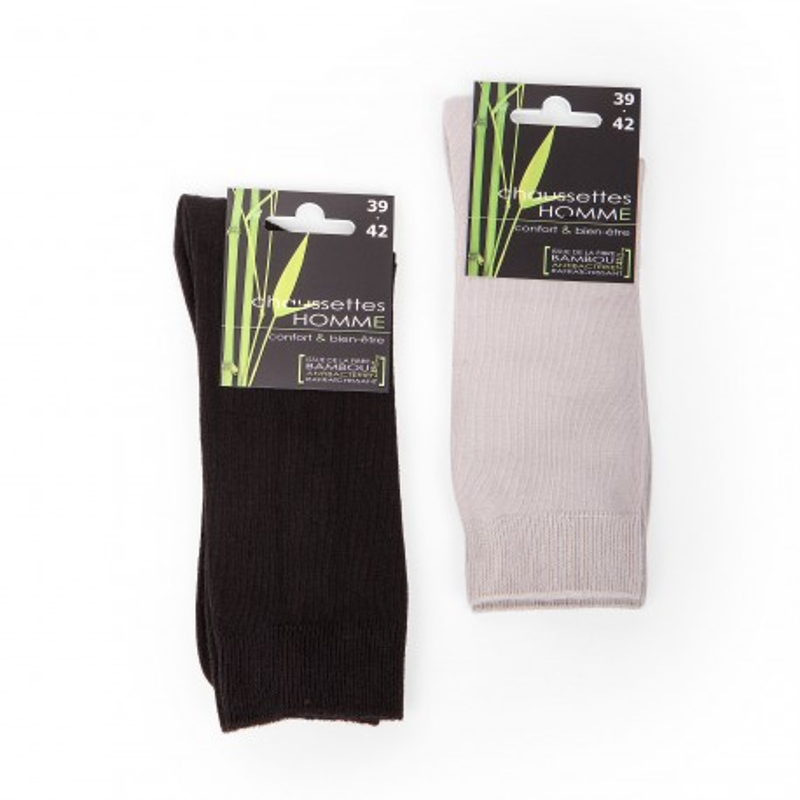 Chaussettes en fibre de bambou homme AZERTEX marque pas cher prix dégriffés destockage