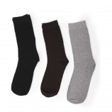 Lot de 3 paires de chaussettes unies AZERTEX marque pas cher prix dégriffés destockage
