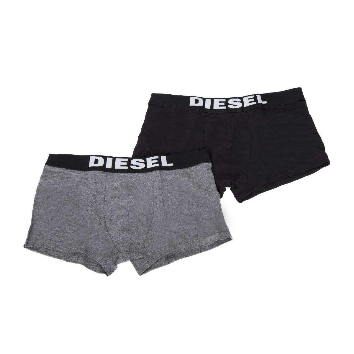 lot de 2 boxers gris noir homme diesel prix d griff. Black Bedroom Furniture Sets. Home Design Ideas