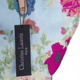 Sac en tissu bleu ciel à motifs fleuris femme CHRISTIAN LACROIX marque pas cher prix dégriffés destockage