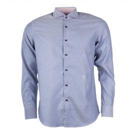 Chemise rayée bleue et blanche homme TRU TRUSSARDI marque pas cher prix  dégriffés destockage 65871847ce4