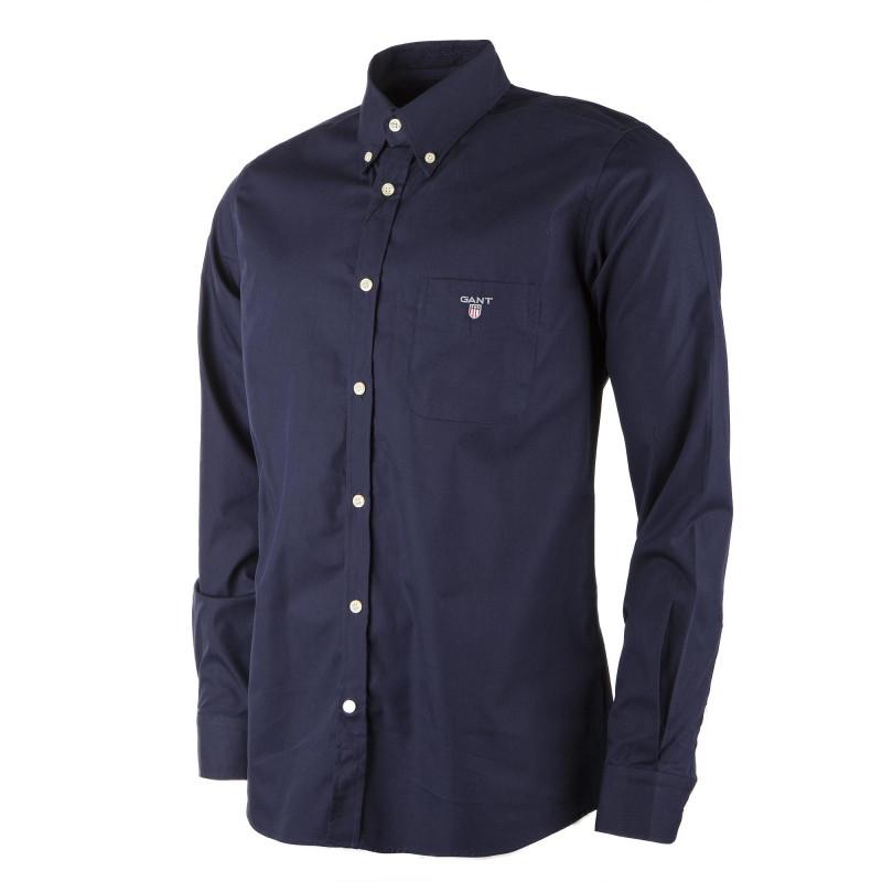 Chemise regular fit bleu marine homme GANT marque pas cher prix dégriffés destockage