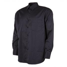 Chemise à rayures noires et grises homme ZIGNONE