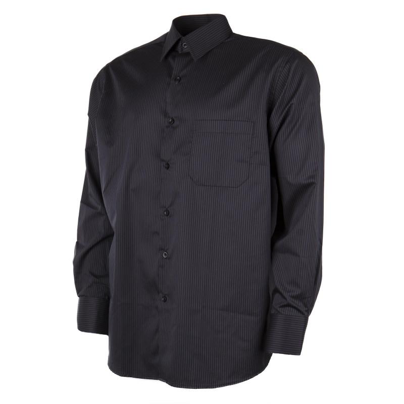 Chemise à rayures noires et grises homme ZIGNONE marque pas cher prix dégriffés destockage