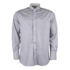 Chemise rayée blanche marron et bleue homme ZIGNONE