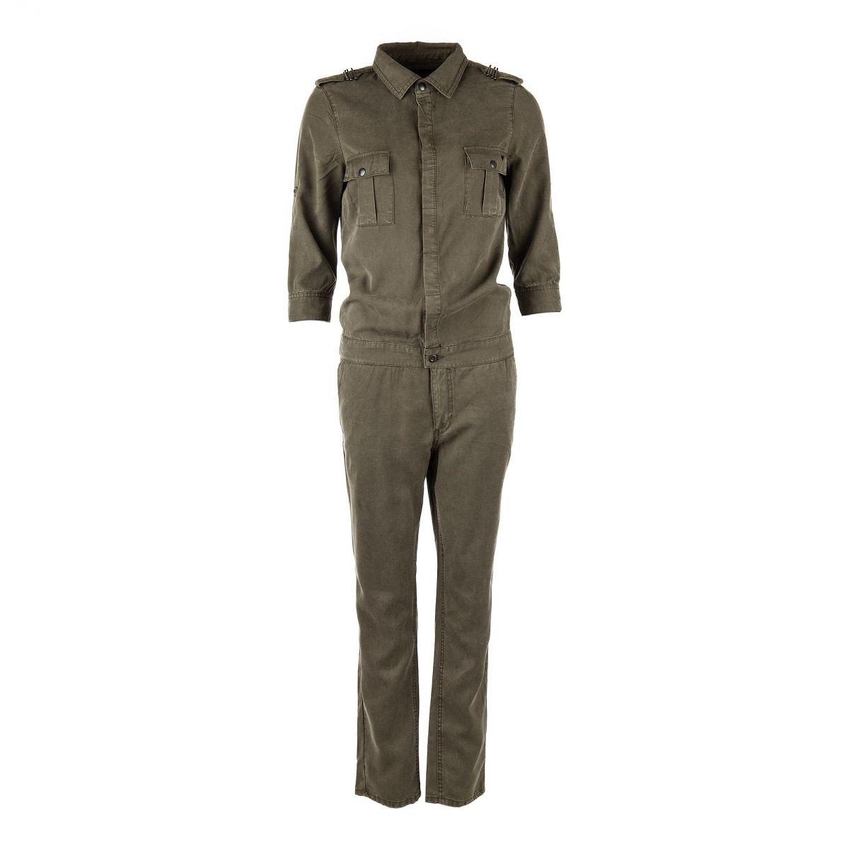 85016d3514 Combinaison pantalon kaki Femme On You marque pas cher prix dégriffés  destockage ...