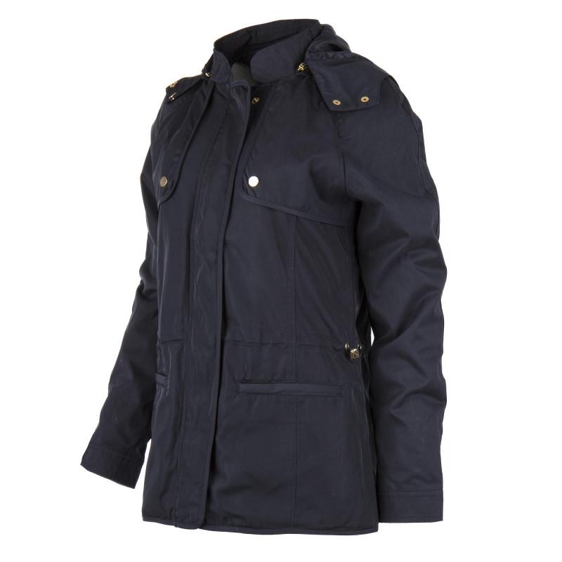 Veste coupe-vent longue bleue marine femme BEST MOUNTAIN marque pas cher prix dégriffés destockage
