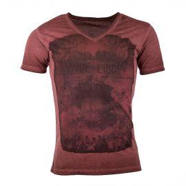 Tee-shirt col V imprimés homme DEEPEND marque pas cher prix dégriffés destockage