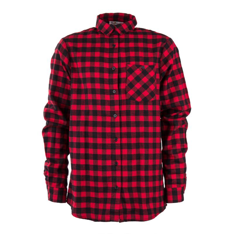 chemise carreaux rouge et noire gar on best mountain prix. Black Bedroom Furniture Sets. Home Design Ideas