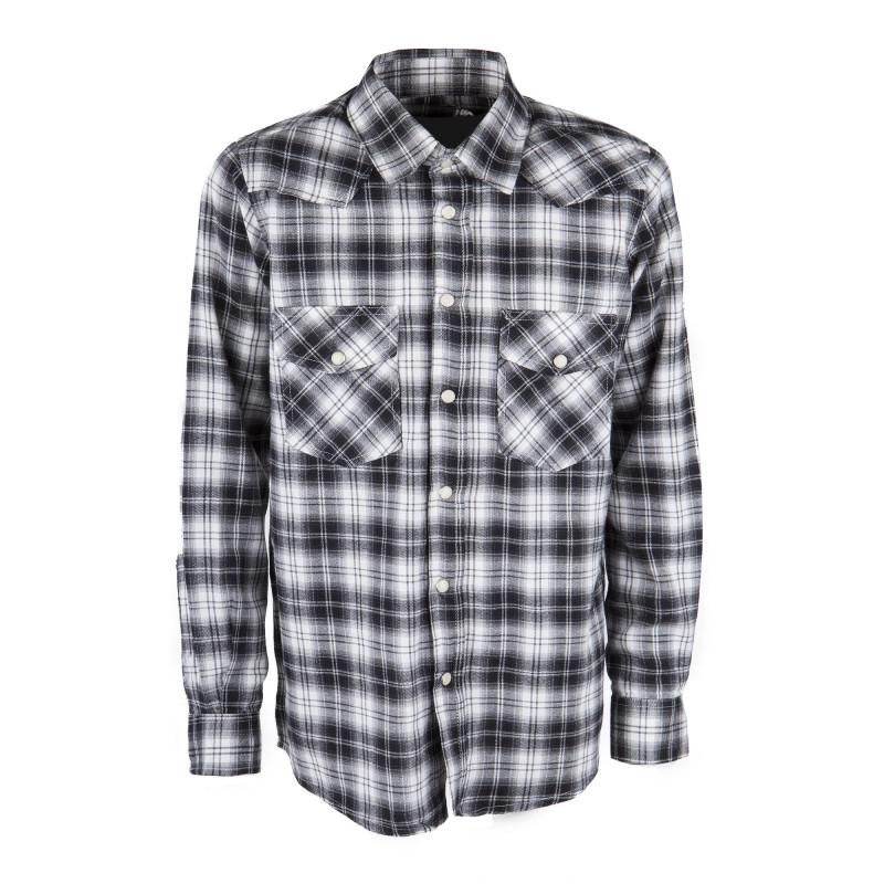 Chemise à carreaux manches longues garçon BEST MOUNTAIN marque pas cher prix dégriffés destockage