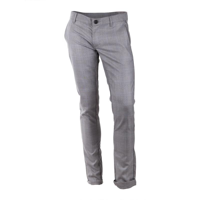 Pantalon fluide imprimé prince de galle homme DEEPEND marque pas cher prix dégriffés destockage