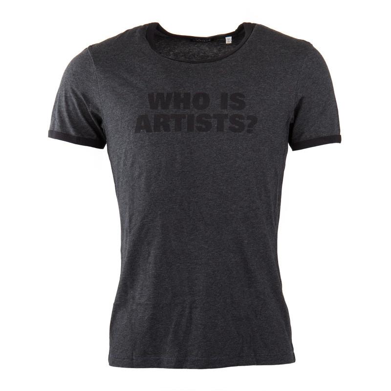 T-shirt à manches courtes gris anthracite who is artists ? homme ARTISTS marque pas cher prix dégriffés destockage